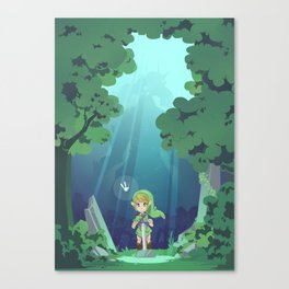 Master Sword and Monsters Canvas Print