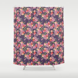 Pink Coral Floral Shower Curtain