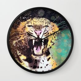 Crescendo Leopard Wall Clock