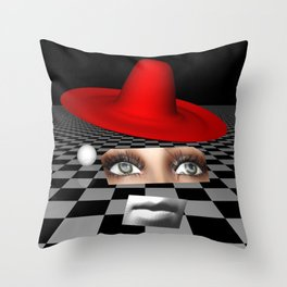like a puppet on a string Throw Pillow