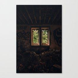 Abandoned Room Mess / Glass Window Light Canvas Print