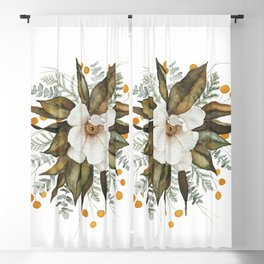 Magnolia Bouquet Blackout Curtain