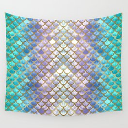 Pretty Mermaid Scales Wall Tapestry