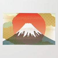 japan Area & Throw Rugs featuring JAPAN by rie_lalala