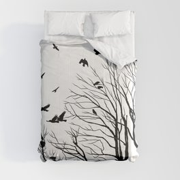 rooks and trees 1 Comforters