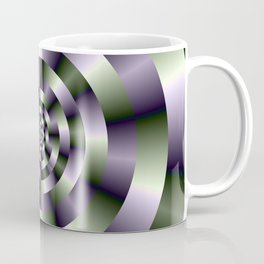 Concentric Circles in Green and Purple Coffee Mug