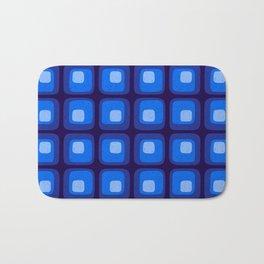 60s Blue Mod Bath Mat