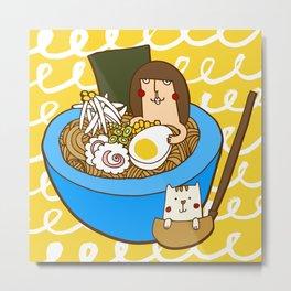 Ramen bowl Metal Print