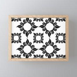 Decorative Black And White Pattern Framed Mini Art Print