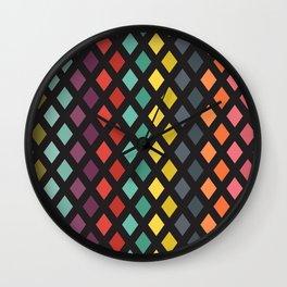 Vintage rhombs Wall Clock