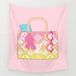 Inspired Girly Purse Wall Tapestry
