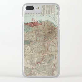 Vintage Map of San Francisco CA (1914) Clear iPhone Case