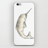 narwhal iPhone & iPod Skins featuring Narwhal by TheColorK