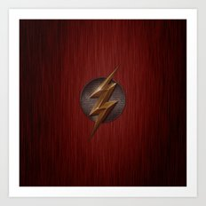 Flash logo Art Print