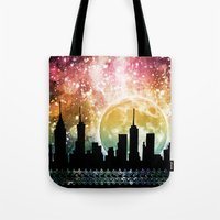 moonrise Tote Bags featuring Moonrise by Jenndalyn