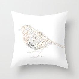 My Spirit Animal is a Robin Throw Pillow