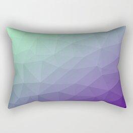 Purple green ombre gradient geometric mesh Rectangular Pillow