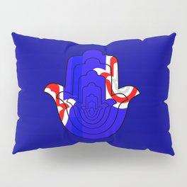Pop Art Hamsa Hand Pillow Sham