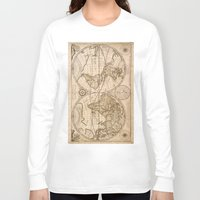 world maps Long Sleeve T-shirts featuring Old Maps by tanduksapi