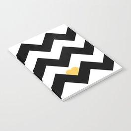 Heart & Chevron - Black/Yellow Notebook