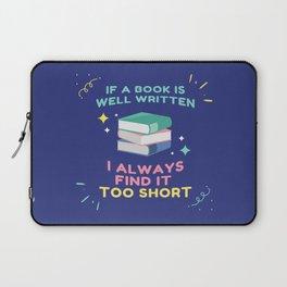 Avid Reader I - Jane Austen Quote Laptop Sleeve
