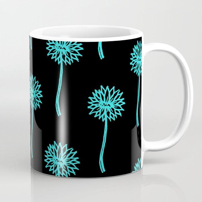 Blue Flower pattern Coffee Mug by scarletwild