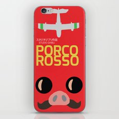 Porco Rosso - Miyazaki Movie Poster - Studio Ghibli iPhone & iPod Skin