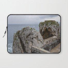 Sailboat in Basque Country, Spain - Minimalist Fine Art Photo Print Laptop Sleeve