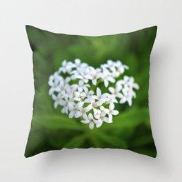 Flower Heart Throw Pillow