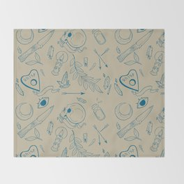 Occult Zoo Ver 3 Throw Blanket