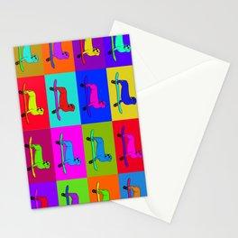 Sausage dog pop art Stationery Cards