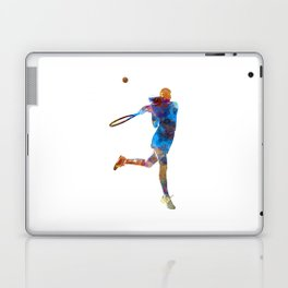 Woman tennis player 03 in watercolor Laptop & iPad Skin