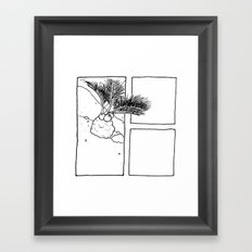 Miniature Palm Tree Framed Art Print