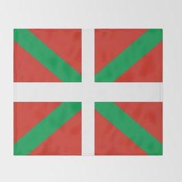Flag of Euskal Herria-Basque,Pays basque,Vasconia,pais vasco,Bayonne,Dax,Navarre,Bilbao,Pelote,spain Throw Blanket