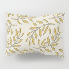 Leaves in Yellow and Cream Pillow Sham