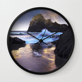 Kynance Cove, The Lizard, Cornwall, England, United Kingdom Wall Clock