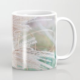 Blurred natural texture dry reed. Coffee Mug