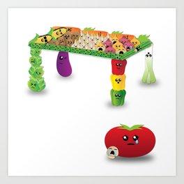 Veggie-Table Art Print