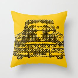 SKETCH OF OLD CAR Throw Pillow