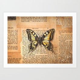 Makaon Butterfly Art Print