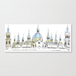 La Catedral-Basilica de Nuestra Senora del Pilar, Zaragoza Canvas Print