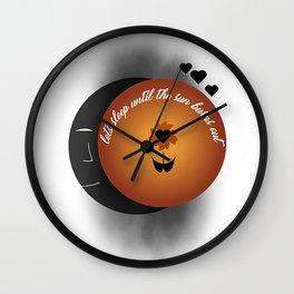 I caught fire Wall Clock