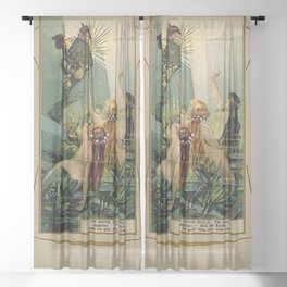 Gold of Rhine Vintage Mermaids Sheer Curtain