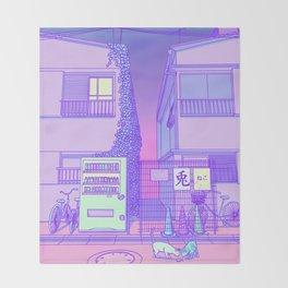 Pastel Tokyo Cats Throw Blanket
