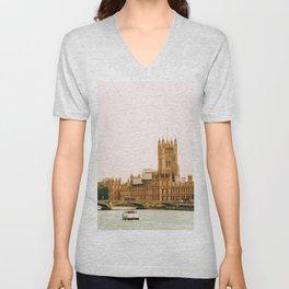 Sepia London England Cityscape (Color) Unisex V-Neck
