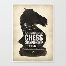 Shawshank Chess Championship Canvas Print