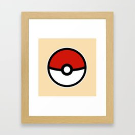Pokéball  Framed Art Print
