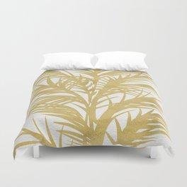 Gold Palms Duvet Cover