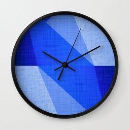 Lapis Lazuli Shapes - Cobalt Blue Abstract Wall Clock
