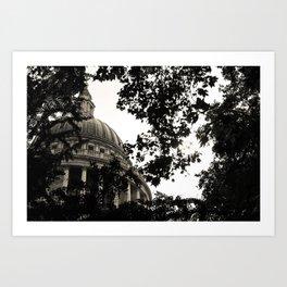 St Paul's Cathedral B&W Alt Art Print